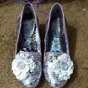 Irregular Choice Hay Fever 41 heels pastel sequins